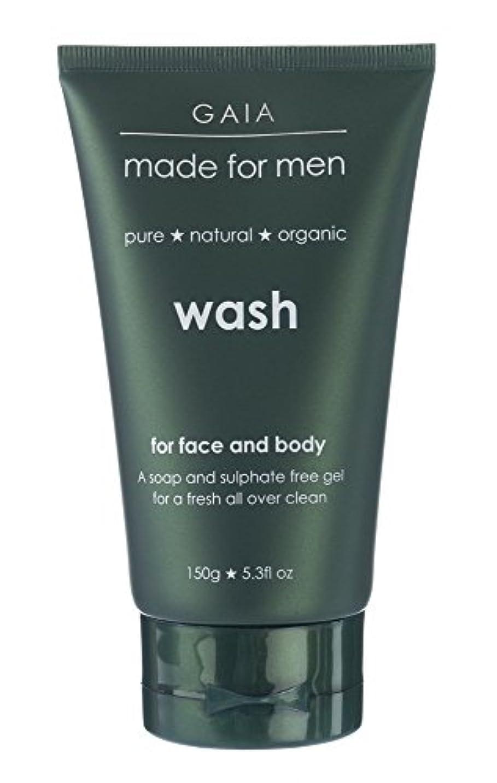 ドルゴネリル貼り直す【GAIA】Face & Body Wash made for men ガイア メンズ フェイス&ボディウォッシュ 150g 3本セット