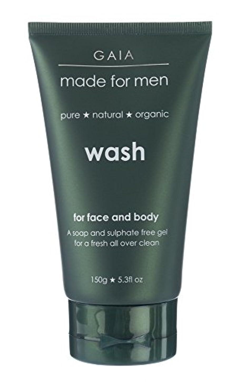 診断するイル影のある【GAIA】Face & Body Wash made for men ガイア メンズ フェイス&ボディウォッシュ 150g 3本セット