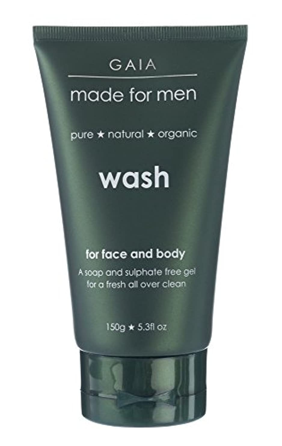遠近法いたずらモスク【GAIA】Face & Body Wash made for men ガイア メンズ フェイス&ボディウォッシュ 150g 3本セット