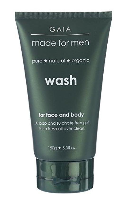 リーダーシップ活性化する弱める【GAIA】Face & Body Wash made for men ガイア メンズ フェイス&ボディウォッシュ 150g 3本セット