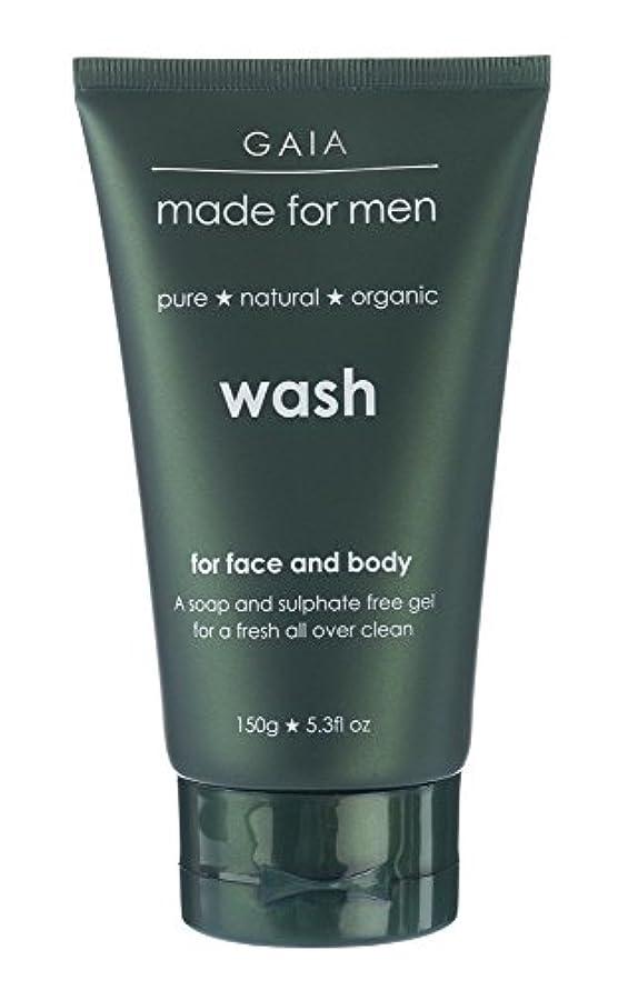 さておき下に権利を与える【GAIA】Face & Body Wash made for men ガイア メンズ フェイス&ボディウォッシュ 150g 3本セット