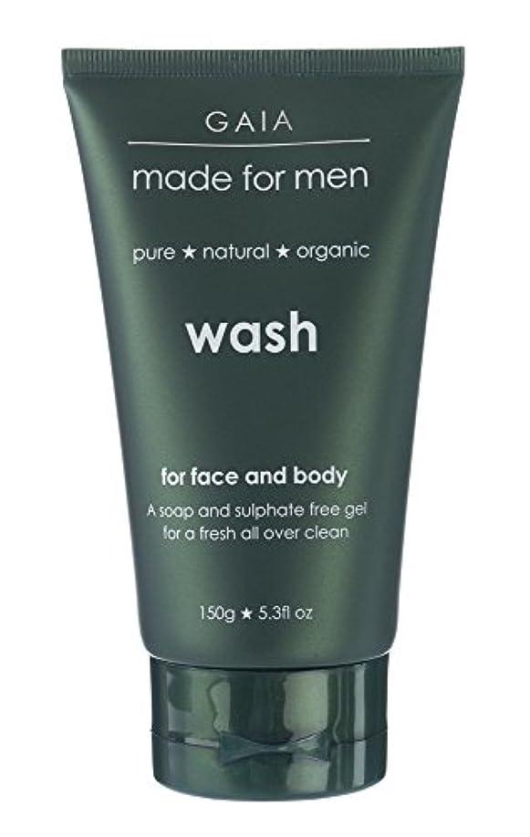 堤防水曜日タイト【GAIA】Face & Body Wash made for men ガイア メンズ フェイス&ボディウォッシュ 150g 3本セット