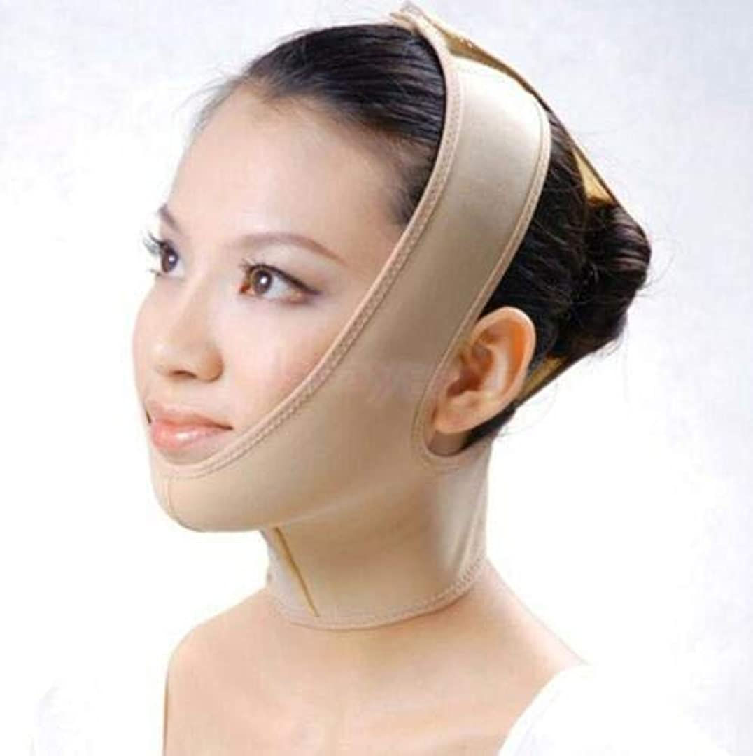 戸惑う贈り物差別FidgetGear ANTI WRINKLE V FACE CHIN CHEEK LIFT UP SLIMMING THIN BELT MASK STRAP BAND S-XXL Small