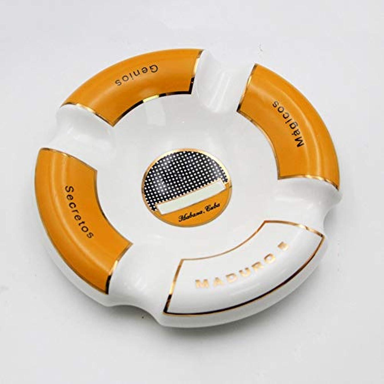 有効な聴衆ゼロタバコ、ギフトおよび総本店の装飾のための灰皿円形の光沢のあるセラミック灰皿