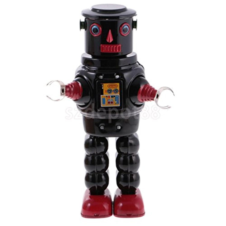 機械歩行ロボットWind Up Clockwork Tin Toy – コレクション& Decoration # 3