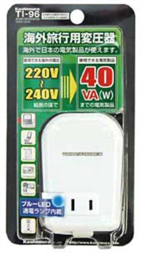 カシムラ 海外用薄型変圧器 220V~240V 40W TI-96の詳細を見る