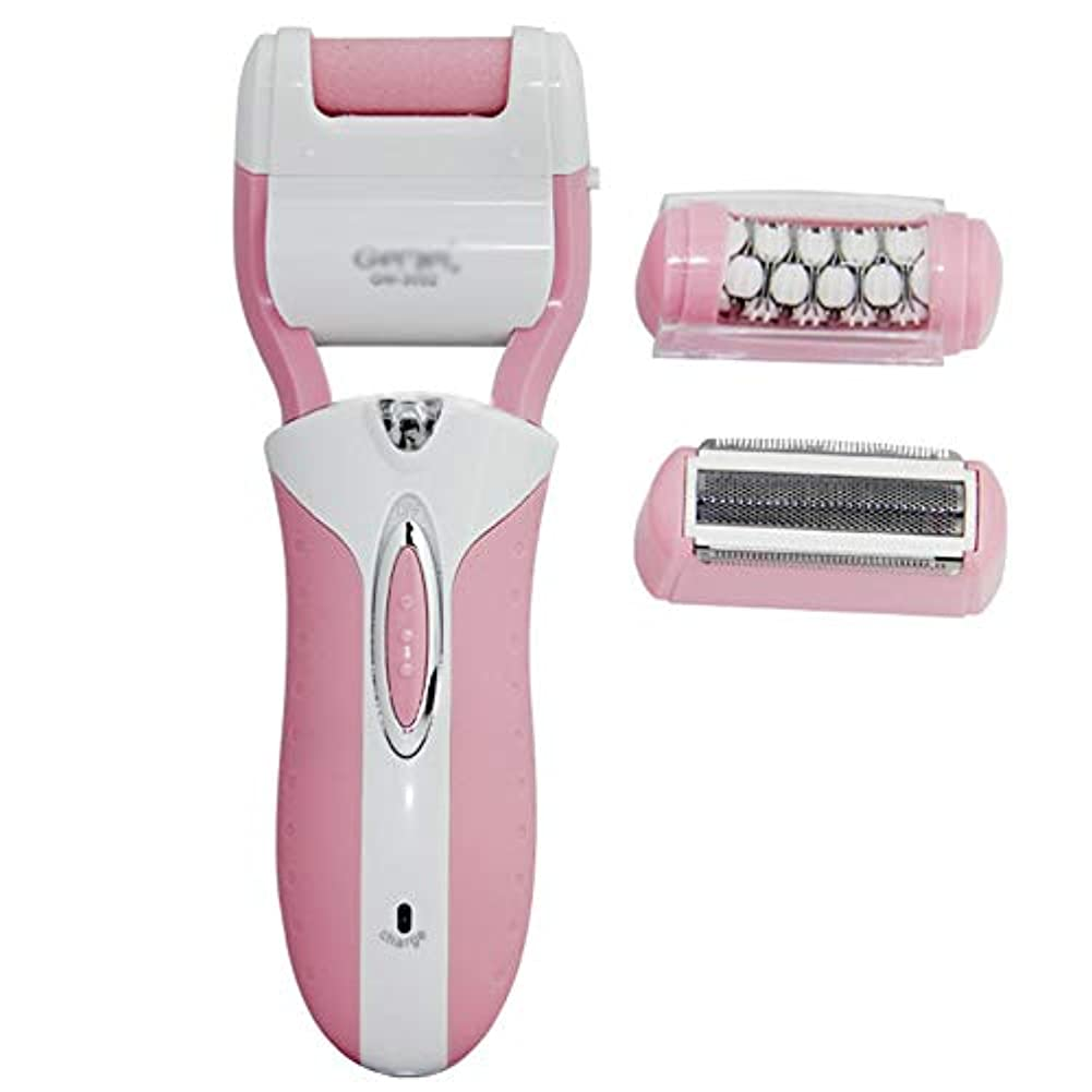 リーン対処する順応性のある女性用脱毛器、電動除毛、コードレス、ウェット&ドライ。充電式防水電気シェーバーインスタントヘアトリマーリムーバー,Pink