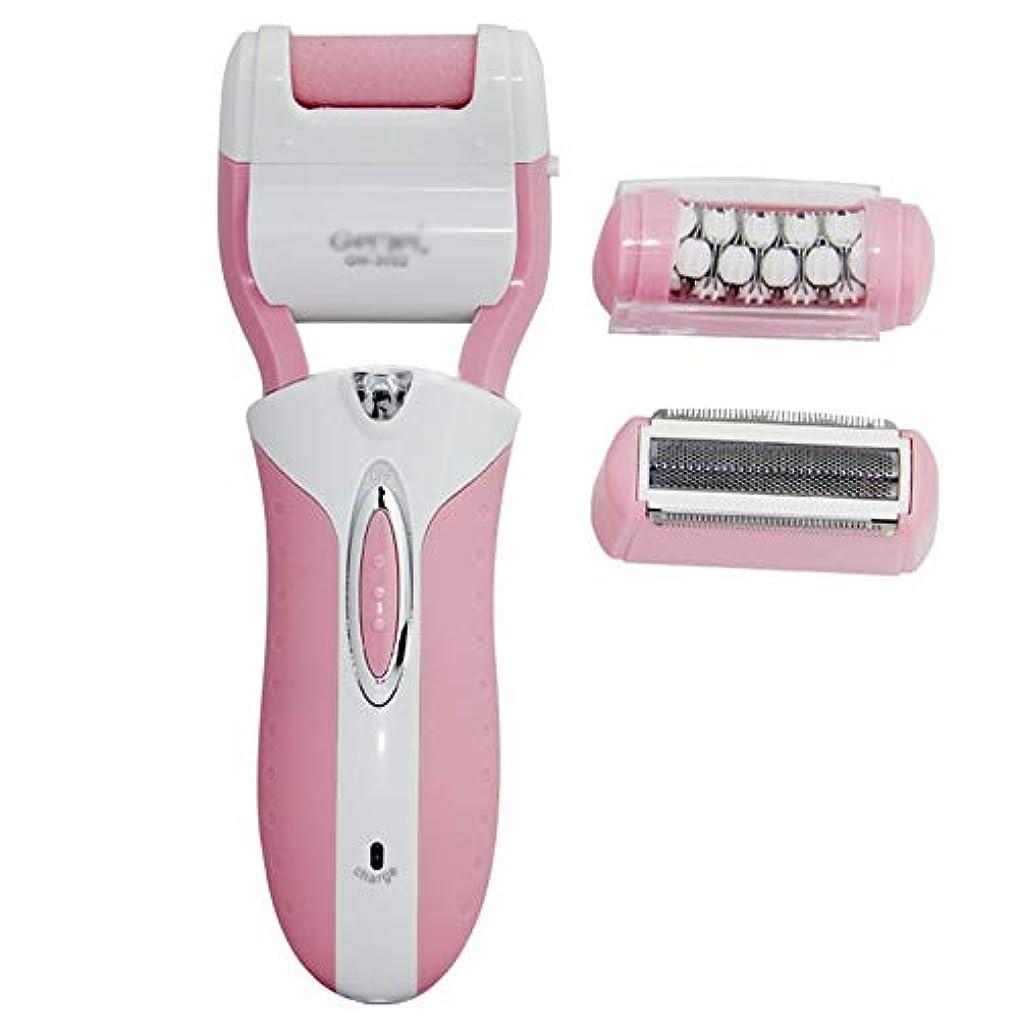 メモ光景豊富女性用脱毛器、電動除毛、コードレス、ウェット&ドライ。充電式防水電気シェーバーインスタントヘアトリマーリムーバー,Pink