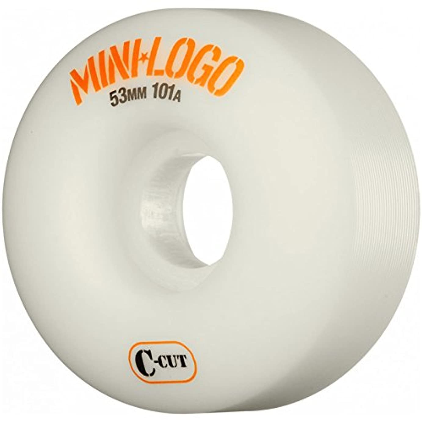 ファイターシルク妖精【Mini Logo】 ミニロゴ 【Mini Logo Wheel C-cut 53mm 101A】 White SKATEBOARD スケボー ウィール Mini-logo