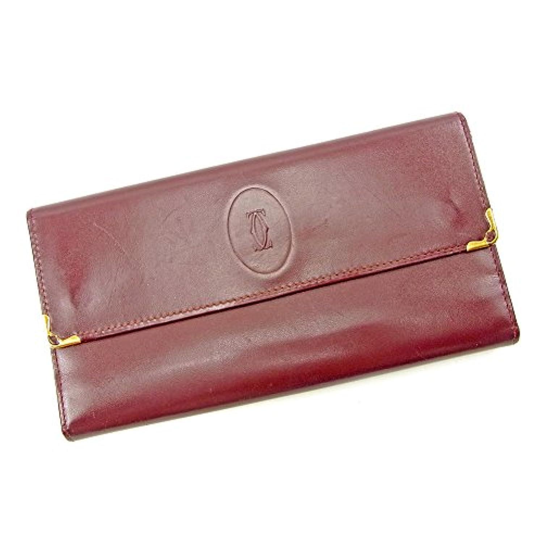 カルティエ Cartier がま口 財布 長財布 レディース メンズ 可 マストライン 中古 S637