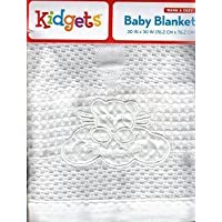 White Swaddle Heaven Sent Baby Blanket, Satin Edged. by Warm & Cozy [並行輸入品]