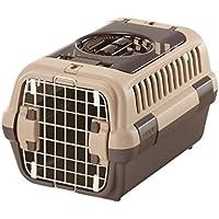 リッチェル キャンピングキャリーダブルドア 超小型犬・猫用 ダークブラウン S サイズ