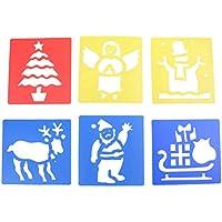 7thlake 6個洗濯可能プラスチッククリスマスステンシル