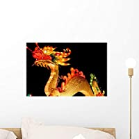 Wallmonkeys Dragon during Chinese New Wall Mural Peel and Stick Graphic (18 in W x 12 in H) WM253729 [並行輸入品]