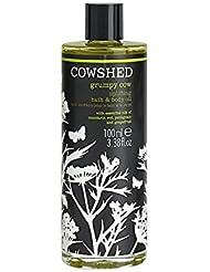 Cowshed Grumpy Cow Uplifting Bath And Massage Oil 100ml - 牛舎不機嫌牛高揚バス、マッサージオイル100ミリリットル [並行輸入品]