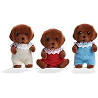 海外輸入品 シルバニアファミリー 正規品 未発売 ドールハウス 人形Amazon.com: Calico Critters Chocolate Lab Triplets Set: Toys & Games【JOY】