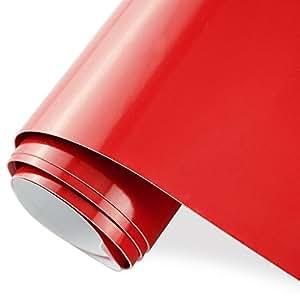 TECKWRAP カッティングシート グロス(艶あり) レッド(赤) 300cm×30cm