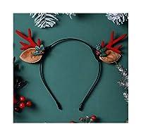 クリスマスカチューシャ子供のギフトジュエリーヘアアクセサリー小アントラーズ帽子の飾りかわいいエルクヘアピンぬいぐるみカチューシャブラウンアントラーズエルクヘッドバンド(利用可能な複数のスタイル) (スタイル : 5#)