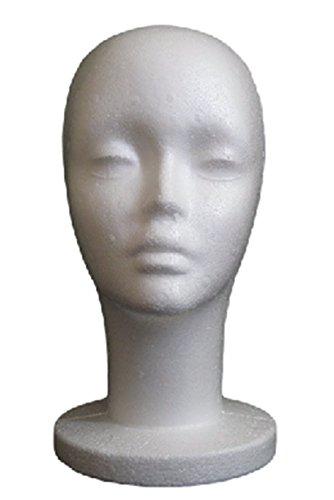 軽々 持ち 運び 発泡 スチロール 製 マネキン ヘッド… (女)