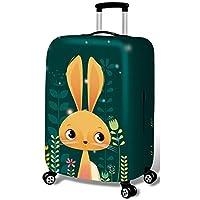 スーツケースカバー 漫画弾性荷物18-32インチケーストラベルアクセサリーのカバートロリーケースカバー耐久性に優れたスーツケースプロテクター (色 : 緑, サイズ : S)