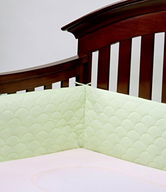 Lifenest Breathable Padded Mesh Crib Bumper -Green by UBIMED [並行輸入品]