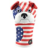 CRAFTSMAN GOLF US Star & Strips Dog Red White Blue Cartoon Golf Driver Headcover Cover