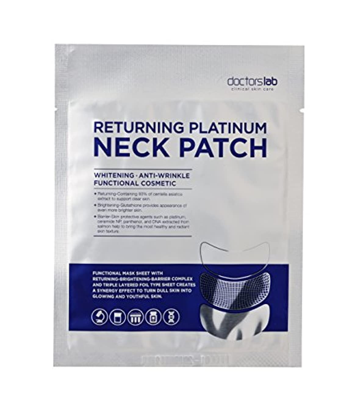 シールドモロニックトランスミッションDoctor's Lab Clinical Skin Care 戻るプラチナネックパッチ 4本/箱