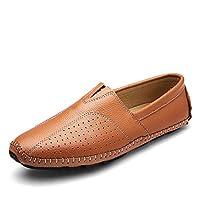 [MUMUWU] ビジネスシューズ メンズ 快適 耐摩耗 軽量 シンプル レザー 紳士靴 耐久性 通気性 ファッション ビジネスシューズ (Color : 褐色, サイズ : 26.5 CM)
