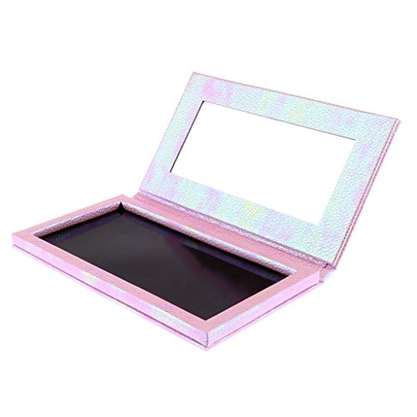 P Prettyia 空 磁気 アイシャドウボックス アイシャドウケース パレット 全2色 - ピンク