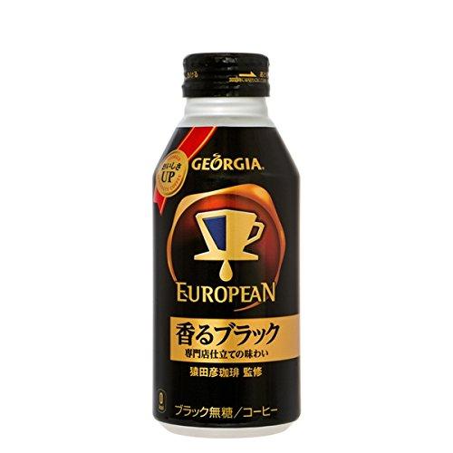 コカ・コーラ ジョージア ヨーロピアン 香るブラック ボトル缶 コーヒー 400ml×24本