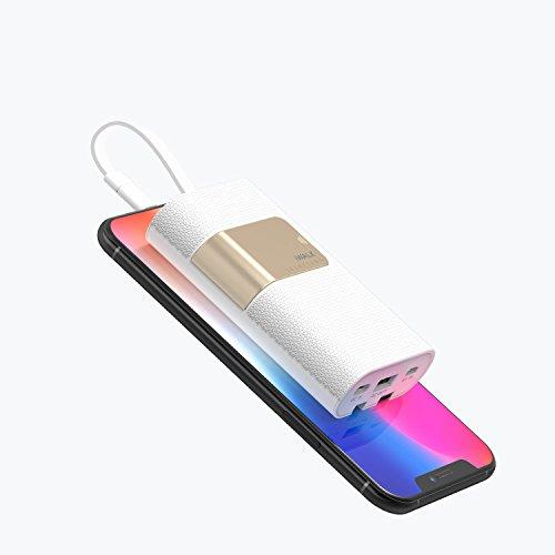 iWALK モバイルバッテリー 10000mah 大容量 ケーブル内蔵 PD(Power Delivery)/QC急速充電対応 小型 軽量 ...