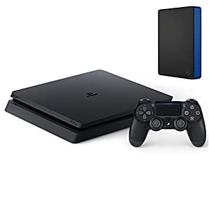 PlayStation 4 ジェット・ブラック 500GB (CUH-2100AB01)+Seagate PS4向け ポータブルハードディスク 2TB