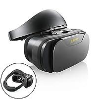 エレコム VRゴーグル VRヘッドセット VRグラス ハードバンド式 着脱簡単・快適装着タイプ メガネ対応 ブラック P-VRGSB01BK