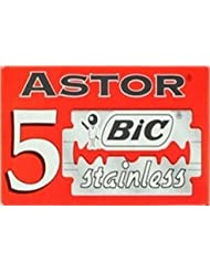 BIC Astor Stainless 両刃替刃 5枚入り(5枚入り1 個セット)【並行輸入品】