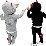 Sinyosilya ハロウィン衣装 コスプレコスプレ 悪魔 仮装 衣装 可愛い 男の子 女の子 スポーツウェア上下セット 90 100 110 120 130