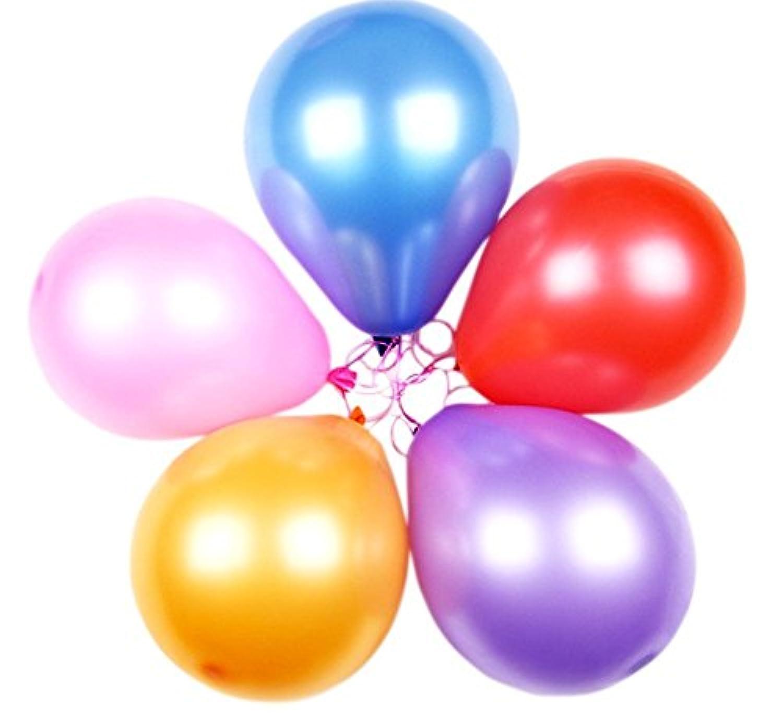 バルーンパーティーAssortedカラーバルーン( 100個)、非常にballons-childrenのパーティー – Large balloons-size : 15