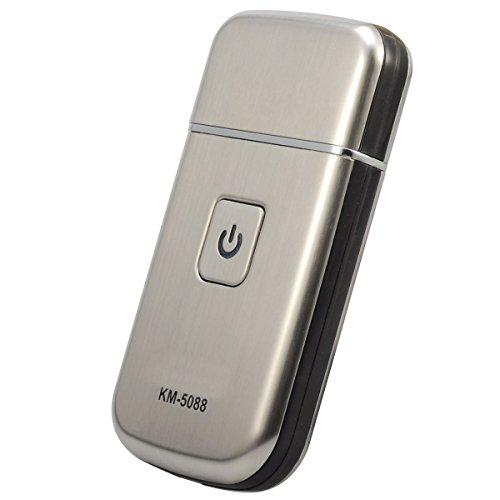 Bienna USB充電式シェーバー 小型ひげそり 持ち運び便利 旅行用 出張用 携帯用 車内常備 お風呂剃り可 電気シェーバー メンズ KM-5088