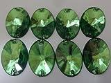 【100円均一】No.3724手芸用ビジュー(アクリルビーズ)緑色(グリーン)1.8×1.3cm_8個入り
