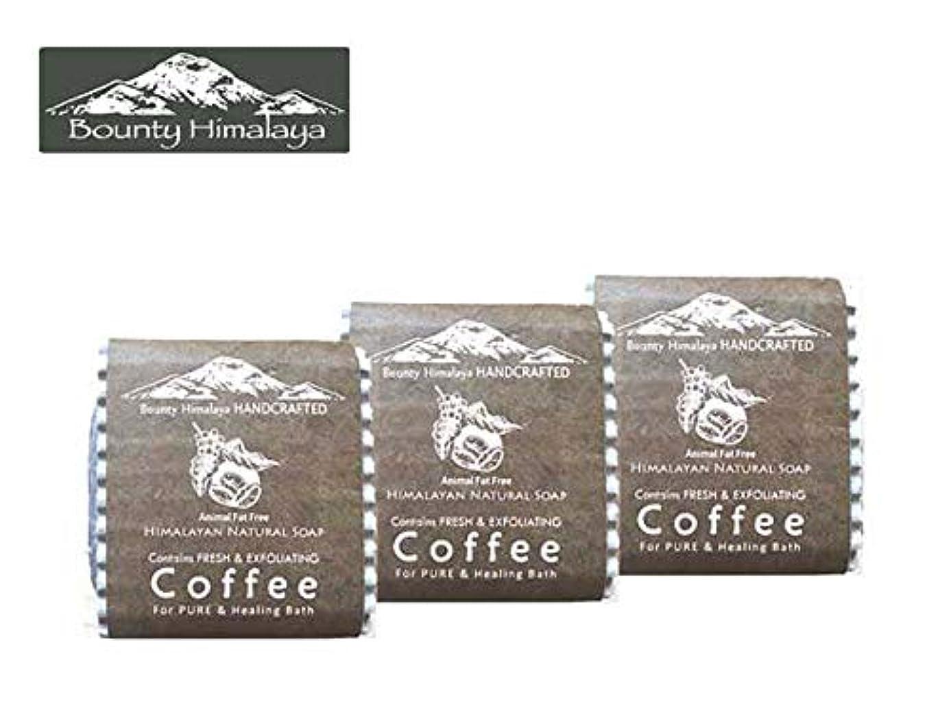 おばあさん恐ろしい感情アーユルヴェーダ ヒマラヤ コーヒー ソープ3セット Bounty Himalaya Coffee SOAP(NEPAL AYURVEDA) 100g