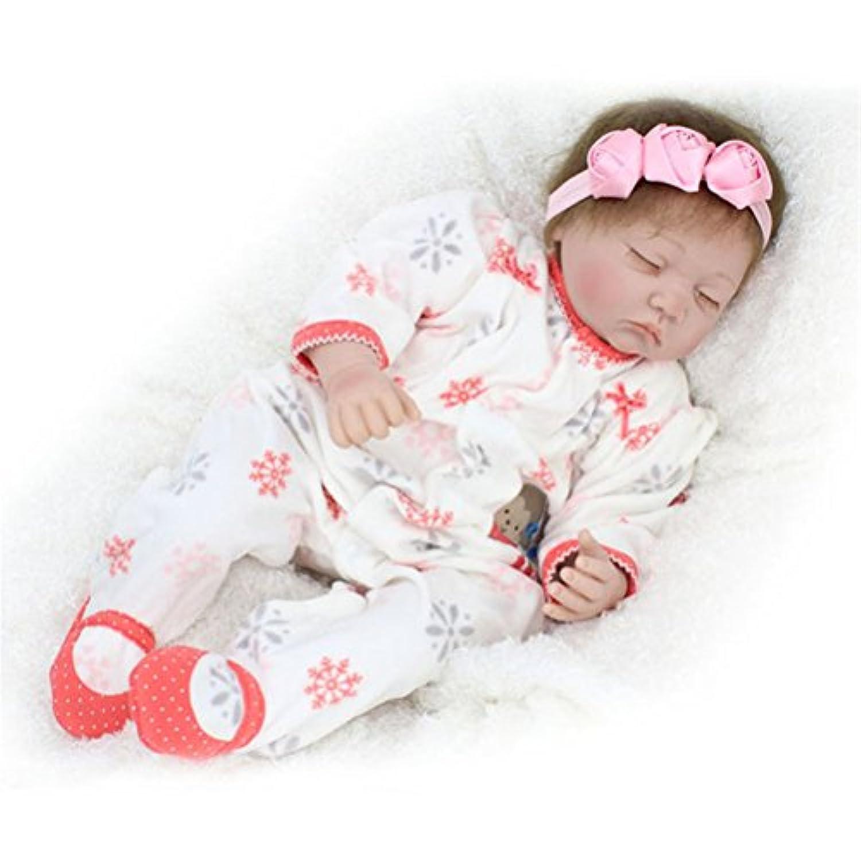 Reborn Baby Doll 60cm Realistic Handmade Girl Newborn Lifelike Silicone Vinyl Sleeping