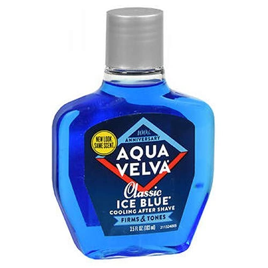 ハンカチヒロイン人Aqua Velva Aqua Velva Classic Ice Blue Cooling After Shave, 3.5 oz (Pack of 3) by Aqua Velva