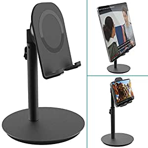 スマホスタンド「最善版・三段階高さ調節可能」Klearlook 角度調整可能 アルミタブレットホルダー iPhone iPadスタンド 卓上 10.5インチ以内対応 iPhone XS/XS Max/XR/X/8 /7/ 6/ 6s plus /5/ 5s, iPad Pro /mini5/4, Samsung Galaxy S10/S10+/S10e/S9 /S8, Galaxy Note 9 /8, LG, Sony Xperia, Nexus対応