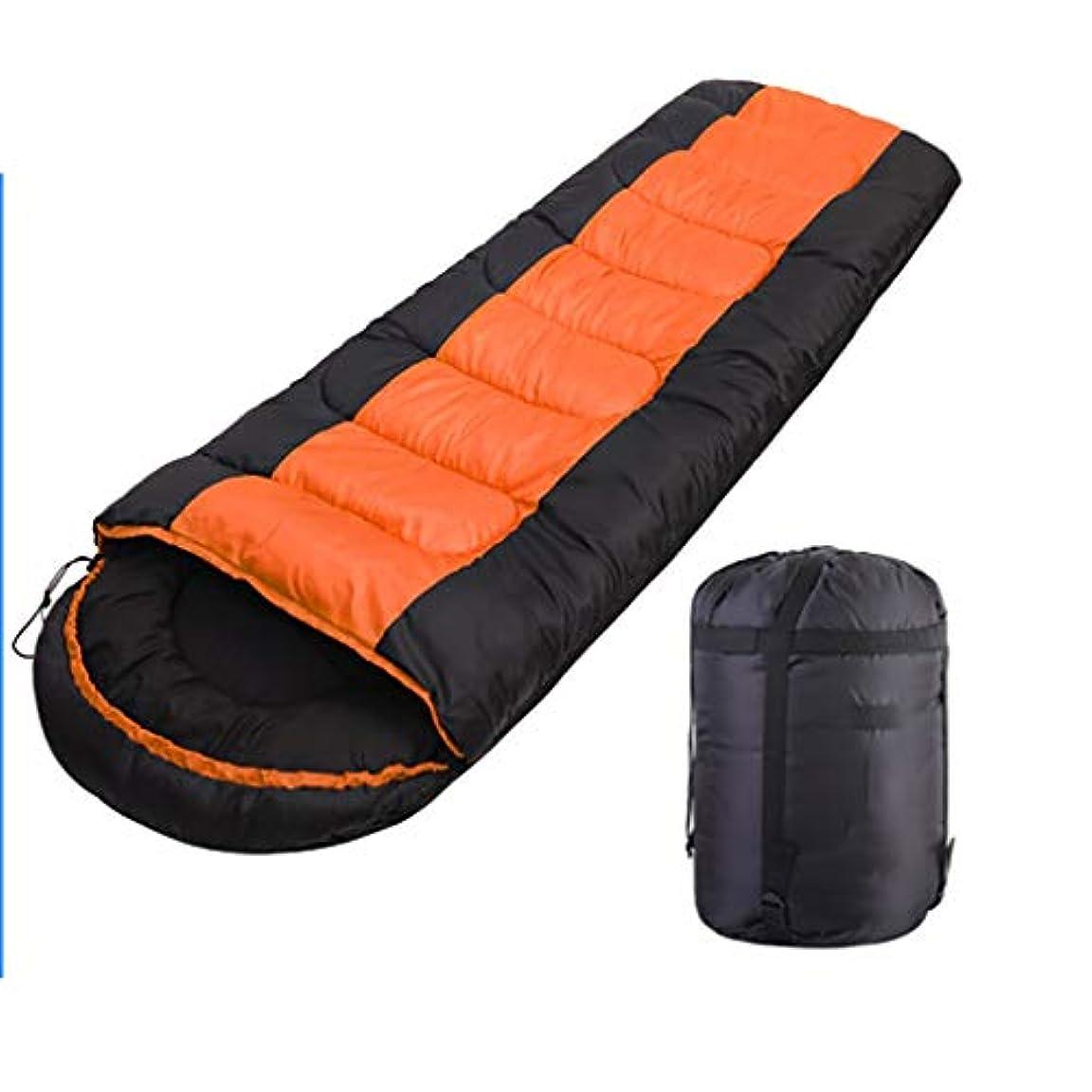 トライアスロン有害資本封筒の寝袋 - 快適さ、通気性、軽量のポータブル、収納袋付き - 4シーズンの旅行に最適、ホーム、キャンプ、ハイキング、アウトドア、ユニセックス、オレンジ(シングル)
