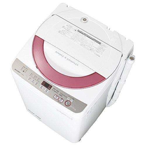 シャープ 6.0kg 全自動洗濯機 ピンク系SHARP 穴なし槽 ES-GE60R-P