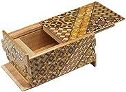 寄木細工 秘密箱21回仕掛け 4寸 小寄木