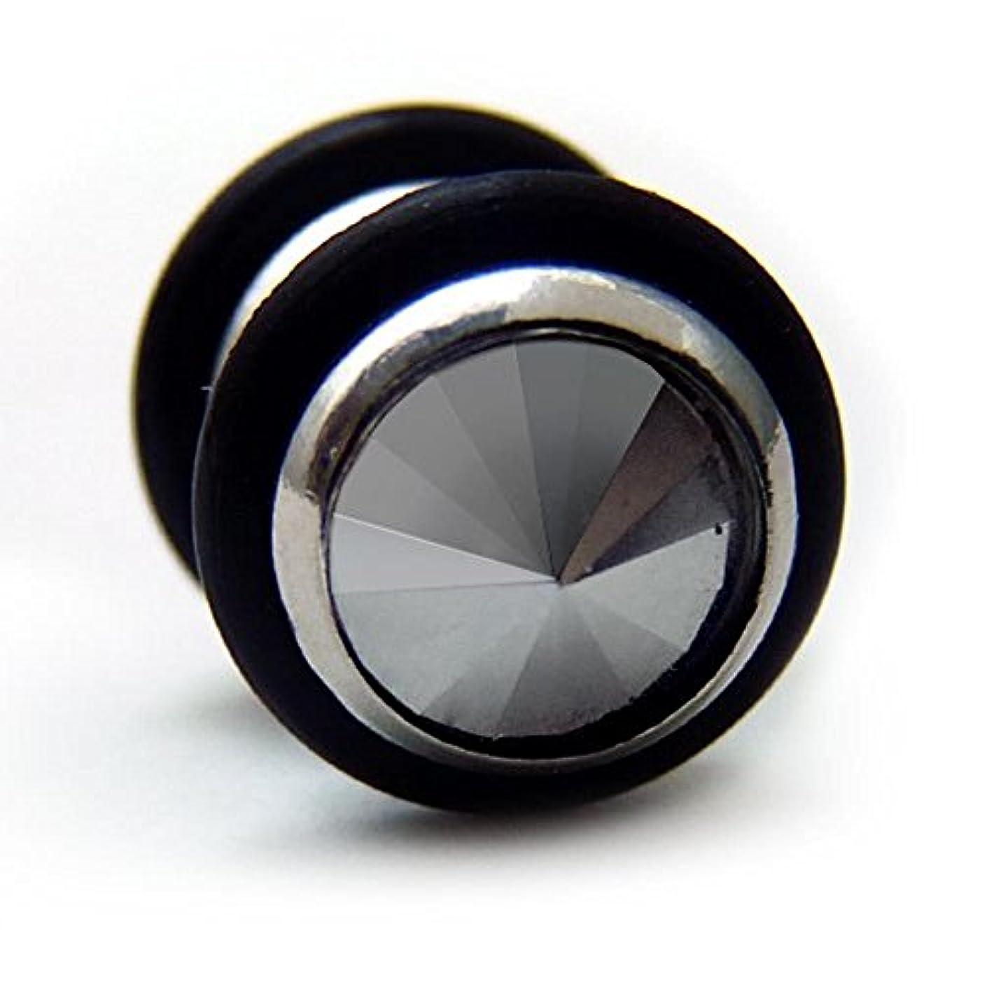 カナダチャペル維持スワンユニオン swanunion 黒丸型 片耳 磁石 マグピ ステンレス製 フェイクピアス fp24-M