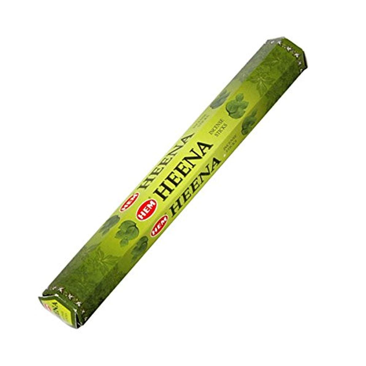 パンフレット後継列挙するHEM(ヘム) ヘナ HEENA スティックタイプ お香 1筒 単品 [並行輸入品]