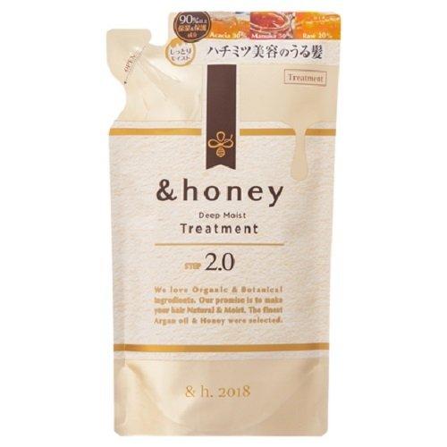 null &honey(アンドハニー) ディープモイスト トリートメント2.0 詰替 350g ラベンダーハニーの画像
