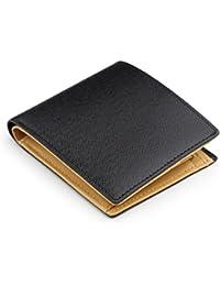 (アビエス)ABIES L.P. 本革 角シボ型押し牛革 二つ折り財布 (小銭入れつき)