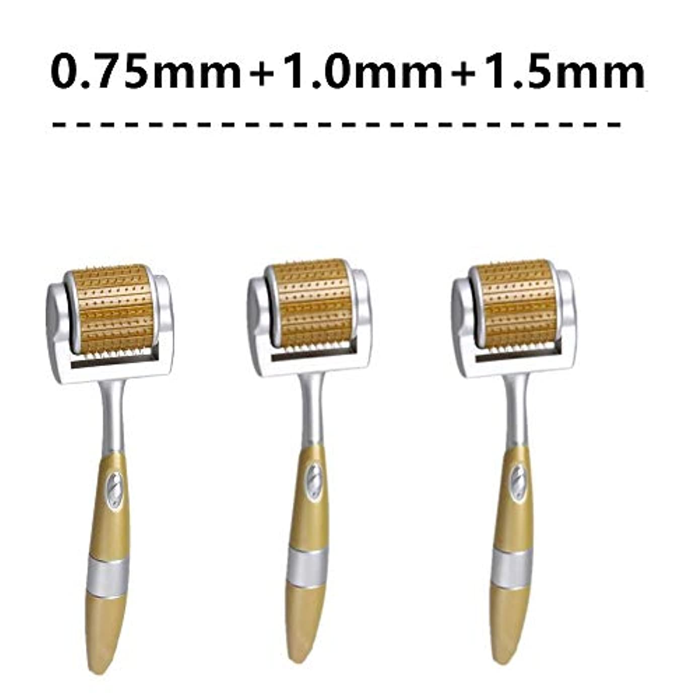 乏しい悪い名前で皮膚の再生、顔抜け毛ストレッチ針プロフェッショナルのためのアンチエイジング、しわ、ストレッチマークや傷跡削減ケアのための0.75ミリメートル、1.0ミリメートル、1.5ミリメートルを含むローラーMicroneedling...